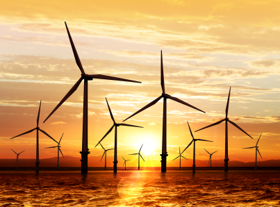 """Wind Turbine Sunset """