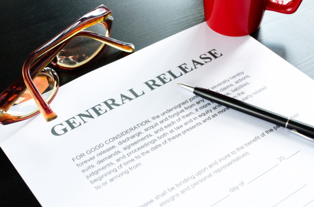 """Image of General Release Form"""