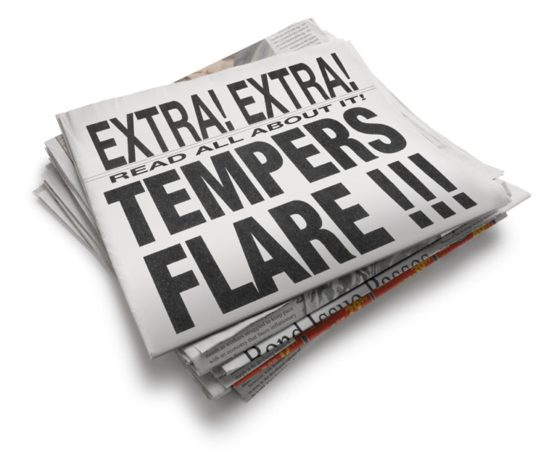 """Newspaper Tempers Flare"""